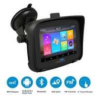 Fodsports 5 pouces Moto GPS Navigation Android 6.0 Wifi étanche Bluetooth GPS navigateur voiture Moto GPS IPX7 RAM 1G ROM 16G
