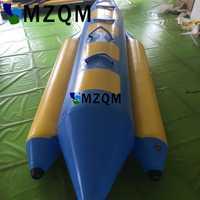 MZQM 4 personnes utilisent des jeux de mer gonflables bateau banane Flyfish gonflable pour les sièges gonflables Advanture jeux d'eau