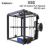 Venta caliente TRONXY X5S de impresión de tamaño 330*330*400mm 3D impresora completa de perfil de aluminio 3d de impresión