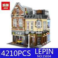 Lepin 15035 4210 unids 15034 genuino MOC City Series el nuevo juego de calles bloques de construcción juguetes educativos como regalos de navidad