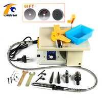 Tungfull de escritorio Mini molino de molienda máquina para trabajar la madera tallado pulido de amoladora eléctrica de máquina de grabador de Dremel