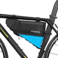 ROSWHEEL serie ataque bicicleta Top Front Frame Tube bolsa triángulo 4L 100% impermeable al aire libre accesorios de bicicletas