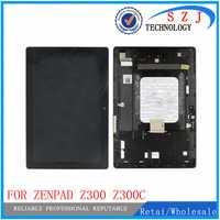 Nuevo 10,1 para Asus ZenPad 10 Z300 Z300C ZP023 pantalla LCD pantalla táctil digitizador Asamblea con marco verde