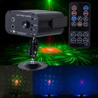 Disco láser proyector luces de Navidad vacaciones suena/control remoto sistema láser Luz RGB led efecto de iluminación de escenario