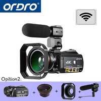 ORDRO HDR-AC3 UHD 4 K Video cámaras digitales FHD 1080 P 24MP WiFi 3,0