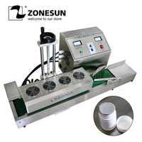 ZONESUN DL-1800 Escritorio de acero inoxidable continua sellador de inducción magnético máquina de sellado por inducción traje para 15-80mm de diámetro