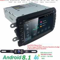 Hizpo Android8.1 QuadCore 2 GRAM 1DIN CarDVD para RENAULT DUSTER LOGAN LADA rayos X símbolo DACIA de Kaptur DOKKER DVD GPS de coche multimedia