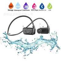 El más nuevo 901 P Bluetooth impermeable 16g de alta fidelidad MP3 jugador IPX8 natación al aire libre deporte inalámbrico auriculares USB MP3 reproductores de música