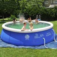 Inflable piscina sobre el suelo fácil conjunto para adultos niños de 7 tamaño grande de PVC azul bebé nadar Accesorios