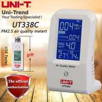 UNI-T UT338C medidor de calidad del aire, PM2.5 detector de calidad del aire humedad/temperatura con retroiluminación
