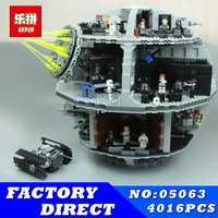LEPIN 05063 unids 05026 piezas 4016 Star Set Wars Force Waken UCS Death Star modelo educativo bloques de construcción juguetes para niños 75159