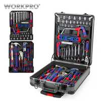 Unid conjunto de herramientas para el hogar conjunto de herramientas de caja de aluminio para carro 111 PC WORKPRO