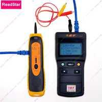 ReadStar NS-DX V1.7 pantalla LCD Digital de red LAN teléfono RJ45/11 Cable tóner de Detector de línea Toner rastreador de
