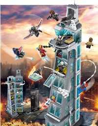Vengador ataque en la Torre de los Vengadores 7th piso bloques de construcción Marvel Super Héroes cifras Compatible Legoings