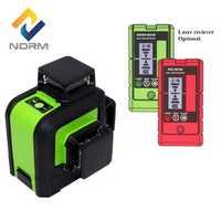 Norma 12 líneas de nivel láser 3D Auto nivelación láser nivel con batería