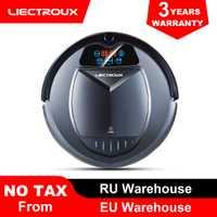 (FBA almacén) LIECTROUX B3000 aspiradora Robot calendario Virtual bloqueador de carga control remoto de bajo precio para el hogar