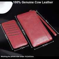 Cuero genuino de la vaca correa de mano teléfono móvil bolsa bolsas para Leagoo T5/T5S/S8/S8 Pro, alcatel, Vernee, Cubot, Bluboo, Umi, Wiko