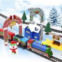 Ferrocarril mágico brillante Flexible del coche juguetes niños de curva carril electrónica Led luz de Flash Tran DIY juguete chico regalo