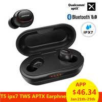 Mpow ipx7 impermeable T5 TWS Auriculares auriculares inalámbricos Bluetooth 5,0 auriculares apoyo Aptx 36 h tiempo para iPhone Xiaomi