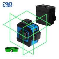 Prostormer 12 líneas 3D los niveles láser profesional de nivel láser 360 graus Horizontal y Vertical y Horizontal rayo láser rojo de línea