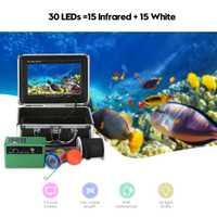 1000TVL 30LEDS (15 infrarouge + 15 blanc) Détecteur de Poissons Sous-marins UE/US Plug Caméra De Pêche Sondeur avec un Câble de 15 m