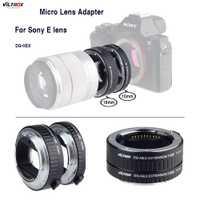 Para Sony Micro adaptador de lente Viltrox DG-NEX Macro tubo de extensión para Sony E montaje de cámara A7II A7RII A7SII NEX-7 NEX-6 NEX-5R N-5T
