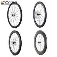 700C de carbono bicicleta de carretera ruedas 24/38/50/60/88mm el más durable Tubular Clincher ruedas de carbono super Luz