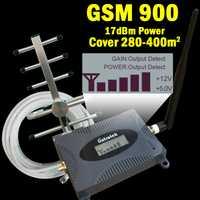 16dBm écran lcd 2G GSM 900 mhz Signal Booster GSM 900 65dB téléphone portable Cellulaire répéteur de Signal Amplificateur + GSM antenne yagi 39