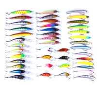 43 piezas mixtas señuelos de piezas pesca realistas multiarticulados señuelo de pesca cebo de pez falso Primavera Verano Otoño Invierno equipo de pesca #25