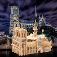 Enfants 3D Puzzle jouets Notre Dame De Paris bâtiments De renommée mondiale jouet modèle en bois Puzzle haute qualité bois cadeau pour les enfants