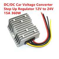 Impermeable DC/DC voltaje convertidor 12 V paso hasta 24 V 15A 360 W fuente de alimentación