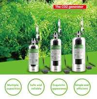 Kit de Sistema generador Wyin DIY CO2 con difusor de válvula de tanque de peces de planta de agua de ajuste de flujo de aire de reacción