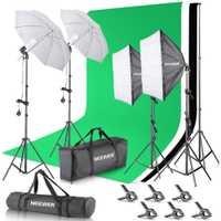 Nuevo 2,6 M x 3 M/8.5ft x10ft Fondo sistema de apoyo y 800 K 5500 W paraguas Softbox continua kit de iluminación para el estudio de la foto
