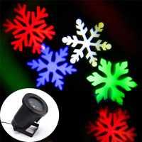 Lámparas de Proyector láser ZINUO Nieve Luz LED de escenario copos de nieve luz láser de Navidad lámpara de paisaje de jardín luz exterior de Halloween