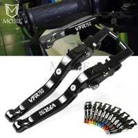 Para Honda VFR750 VFR700 F2 VFR750F VFR750R FH-FV RL RC30 motocicleta CNC ajustable plegable extensible freno embrague palancas