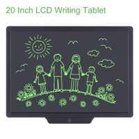 Howshow 20 pulgadas LCD escritura Tablet saludable escritura tablero de dibujo con lápiz gráfico Digital Touch Pad para el regalo de los niños