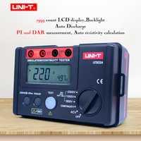 UNI-T UT502A comprobador de resistencia de aislamiento Digital megohmmetro AC voltímetro prueba de continuidad LCD retroiluminación indicación de alto voltaje