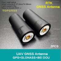 2 piezas espiral GNSS antena TOP107 luz drone RTK soporte GPS GLONASS Beidou sistema de navegación por satélite antena UAV/UGV de antena