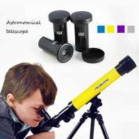 Al aire libre colorido explorar espacio Monocular telescopio astronómico de tres ojos con trípode portátil