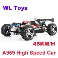 WLtoys A959 eléctrico coche Rc Nitro 1/18 de 2,4 Ghz 4WD coche de Control remoto de Alta Velocidad fuera de la carretera coche de carreras Rc camión monstruo para niños
