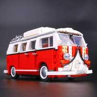 Creador Volkswagen T1 Camper Van bloques technic ladrillos figura de acción juguetes para niños Compatible