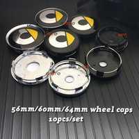 Nuevo 56mm 64mm 135mm 5 habló nueva Grey negro 60mm inteligente logotipo emblema de coche de centro de la rueda cubo de la llanta placa decoración cubre estilo
