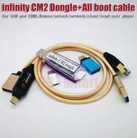 100% original infinito CM2 BOX Dongle + UMF todos arranque cable para GSM y CDMA quitar/Desbloquear/red/transparente/leer teléfono del usuario