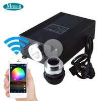 Maykit 45 W 60 W 75 W WiFi contrôle smartphone APP RGB RGBW LED générateur de projecteur à Fiber optique