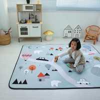 Nouveau 1 PC extérieur Puzzle enfants tapis épaissi bébé chambre ramper Pad 145*195 cm bébé coton tapis de jeu pliant tapis bébé tapis