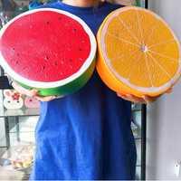 25 cm Super Gros Jumbo Orange Squishy PU Simulation Nourriture Énorme Anti-Stress Squeeze Squishies Doux Jouets De Noël cadeaux