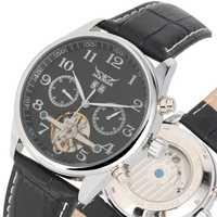 Tevise 2019 esqueleto reloj calendario pantalla relojes mecánicos automáticos auto viento Blackl lujo marcado negocios Bvlgari mannen