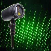 Thrisdar verde lluvia de meteoros al aire libre estrella láser proyector lámpara jardín fiesta de Navidad Holiday LED proyector láser