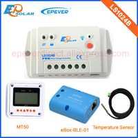 Voltaje 12 V 24 V trabajo auto cargador de batería regulador solar LS1024B 10A 10 amplificadores bluetooth eBOX MT50 medidor remoto PWM serie EP