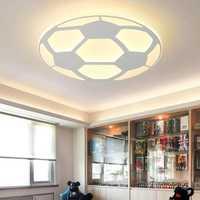 Lámpara de fútbol moderna para niños lámpara de techo Led con Control remoto sala de estar dormitorio niños habitación decoración hogar iluminación acrílica